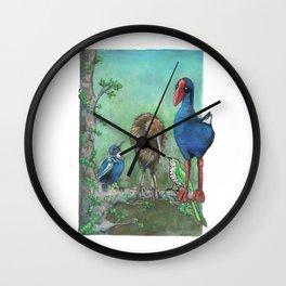 The legend of the Kiwi, illustration, Maori tale, New Zealand Wall Clock