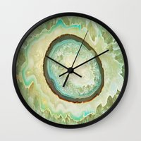 minerals Wall Clocks featuring MINERALISTIC by Catspaws