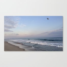 Sunset at Main Beach with Bird Canvas Print