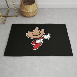 Funny Dabbing Chili Pepper Rug