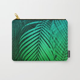 TROPICAL GREEN BLUE LEAVES Carry-All Pouch