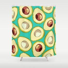 Avocado, Avocados, Healthy Food Fruit Pattern Shower Curtain