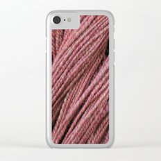 Pink Mauve Handspun Yarn Clear iPhone Case
