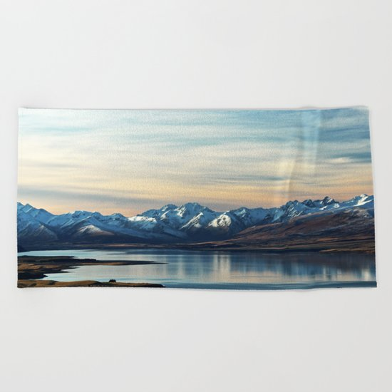 If Nobody Speaks // Landscape Mountains Photography Beach Towel