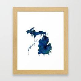 Michigan - wet paint Framed Art Print