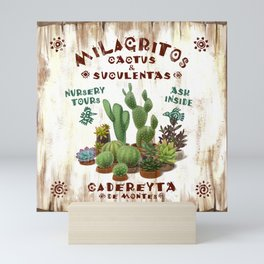 Milagritos Cacti and Succulents Nursery Mini Art Print