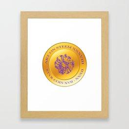 stvr COIN Art On Steem Framed Art Print