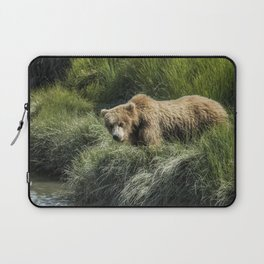 Munching Grass by the Stream Laptop Sleeve