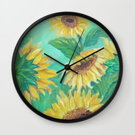 Girasoles Wall Clock