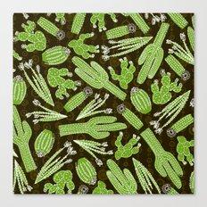 Sketchy Cacti Canvas Print