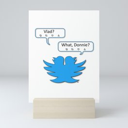 Double-headed Twitter Mini Art Print