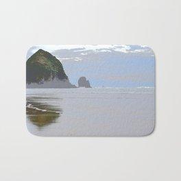 Illustrated Haystack Rock Bath Mat
