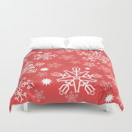 Christmas Snowflakes Duvet Cover