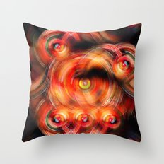 Secret Neural Pathways of an FM Synth #abstract Throw Pillow