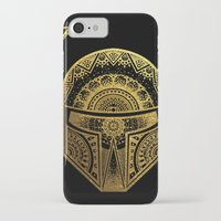 gold foil iPhone & iPod Cases featuring Mandala BobaFett - Gold Foil by Spectronium - Art by Pat McWain