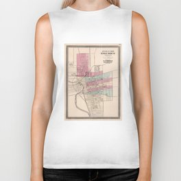 Vintage Map of Columbus Ohio (1868) Biker Tank