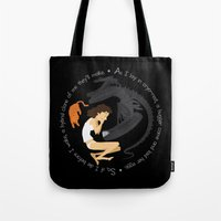 ripley Tote Bags featuring Ripley, the Alien and Jonesy by Rob O'Connor