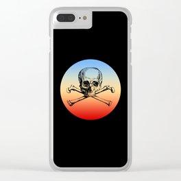 Classic Retro Design Skull & Bones Clear iPhone Case