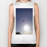 plane Biker Tanks featuring Plane by Natasha N. Walker