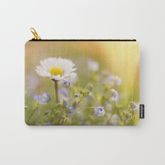 Daisy and court- Daisies Flowers Flower Meadow Spring #Society6 Carry-All Pouch