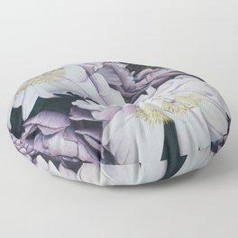 Pink and Purple Peonies Floor Pillow
