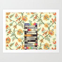 VHS & Entry Hall Wallpaper Art Print