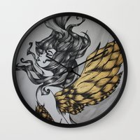 religion Wall Clocks featuring Birdcage Religion by Leigh Elizabeth