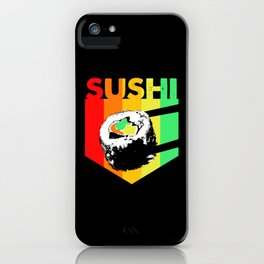 Sushi Retro Colorful Vintage Kawaii Maki iPhone Case
