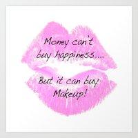 makeup Art Prints featuring Makeup by I Love Decor