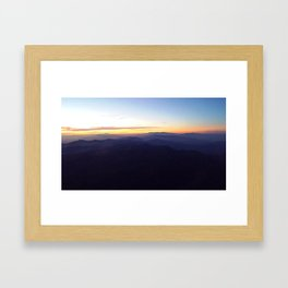 Smoky mountain sunrise Framed Art Print