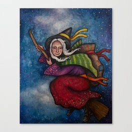 Holiday La Befana the Christmas Witch Canvas Print