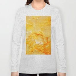 Yellow onyx marble Long Sleeve T-shirt