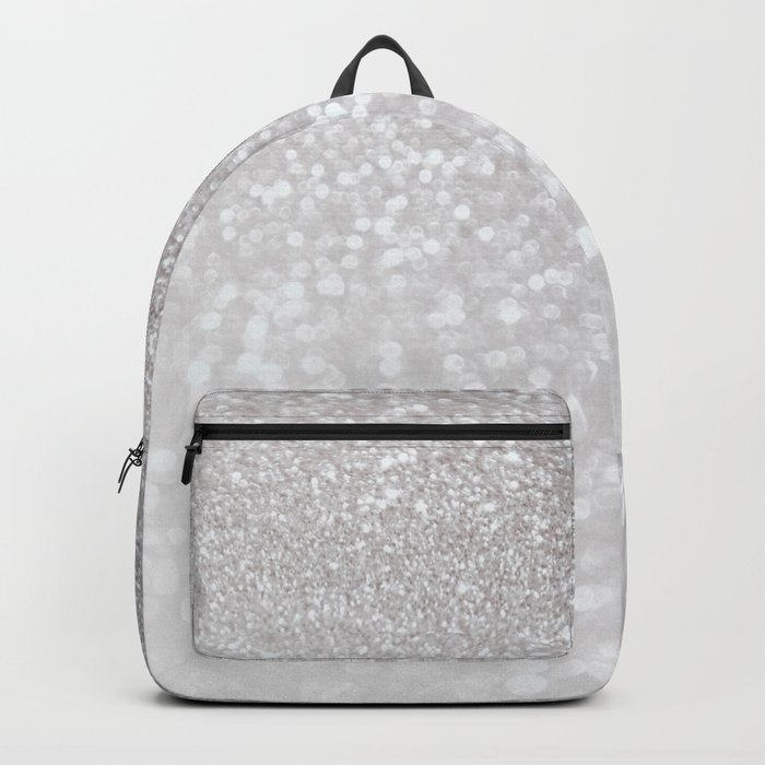Silver ice - glitter effect- Luxury design Backpack
