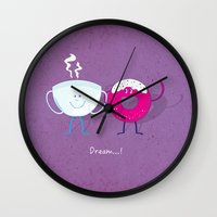 donut Wall Clocks featuring Donut by Tony Vazquez