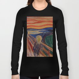 The Scream Edvard Munch Classic Art Best Quality Long Sleeve T-shirt
