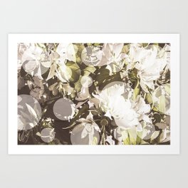 Flowers and Dots Art Print