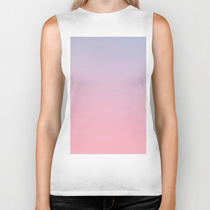 TRANSIENT FEELING - Minimal Plain Soft Mood Color Blend Prints Biker Tank