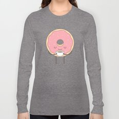 donut loves coffee Long Sleeve T-shirt