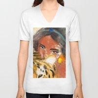 jasmine V-neck T-shirts featuring Jasmine by Camila Marina Dos Anjos
