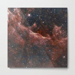 Red Space Metal Print