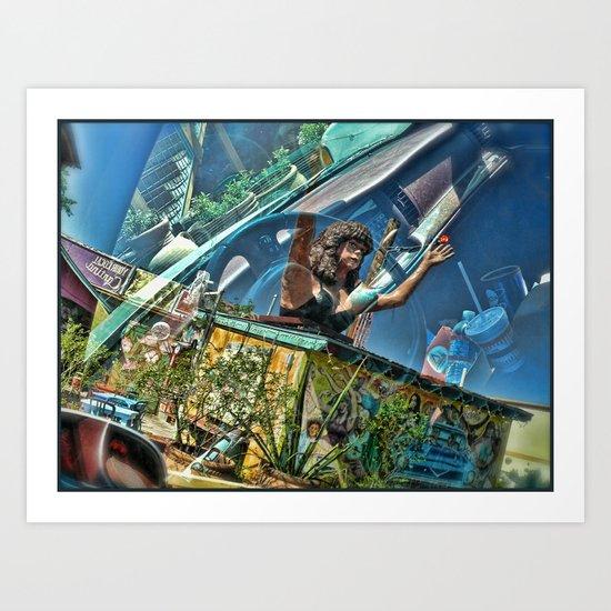 Reflection at Maria's Taco Express Art Print