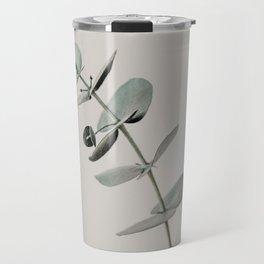 Stretch: minimalist botanical eucalyptus Travel Mug