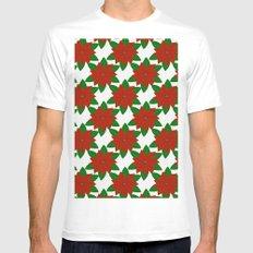 C13D Poinsettia Mens Fitted Tee MEDIUM White