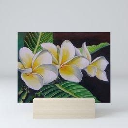 Polynesian Plumeria Mini Art Print