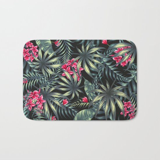 Tropical leave pattern 9.2 Bath Mat