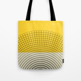 Sunflower Geometric Pattern Tote Bag