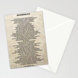 Desiderata Poem By Max Ehrmann Nr. 1001-3 Stationery Cards