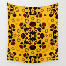 Fiesta Folk Yellow #society6 #folk Wall Tapestry