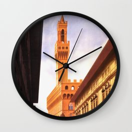 Vintage Florence Italy Travel Wall Clock