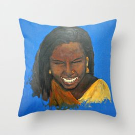 Indian Tribal Beauty Throw Pillow